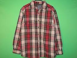 woolrich mens size m medium plaid heavy pocket long sleeve button