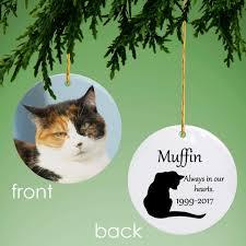 cat memorial memorial personalized photo ornament