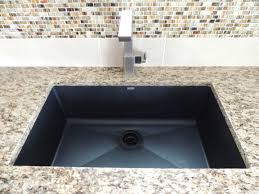 santa cecilia granite blanco silgranit sink in anthracite moen
