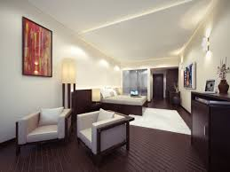 small minimalist home theater room design with low ceiling and the