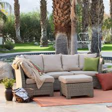 Outdoor Furniture Wicker Resin by Natural Outdoor Wicker Resin Patio Furniture Conversation Set U2013 Loluxe