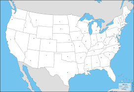 Map Of United States Capitals by United States Of America Usa Free Map Free Blank Map Free