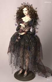 beautiful barbie dolls black dress