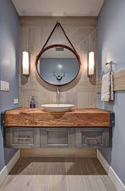 bathroom wood tile bathroom wall chrome vanity light wood plank