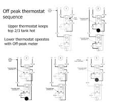 electric water heater wiring diagram on off peak thermostat