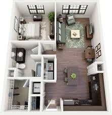 salon cuisine le plan maison d un appartement une pièce 50 idées