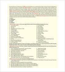 kitchen manual template equipment list template