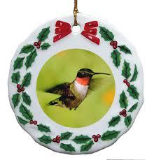 porcelain wreath ornament