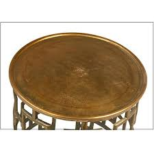 brass drum coffee table cut out brass drum side table chairish