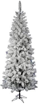 pencil christmas tree vickerman flocked pacific pine 7 5 white artificial pencil