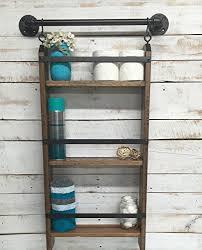 Rustic Industrial Bathroom by Amazon Com Bathroom Ladder Shelf Rustic Bathroom Shelf