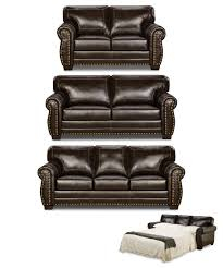 nail head panama espresso sofa and loveseat by simmons