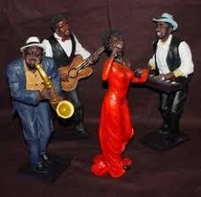 jazz singer figurine sculpture statue home décor