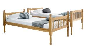 Betternowmcouk Forest Solid Pine Wood BUNK BED With  X Mattresses - Pine bunk bed