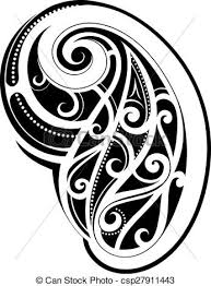 maori style spiral tattoo design clip art vector search drawings