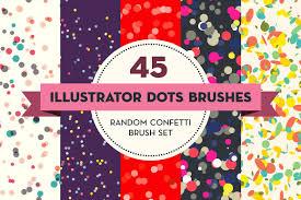 illustrator pattern polka dots 45 illustrator dots brushes brushes creative market
