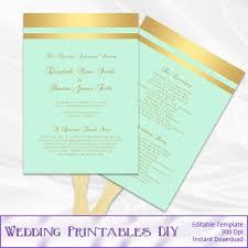 Wedding Program Template Fan 790 Best Wedding Templates Images On Pinterest Wedding Templates