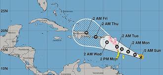 Caribbean Ocean Map by Update Maria Increasing Strength Aiming For Caribbean Weatherplus