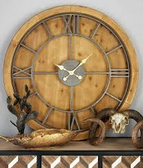 cole grey oversized wood and metal 40 wall clock reviews