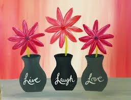 learn to paint live laugh love