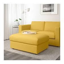 Yellow Ottoman Storage Vimle Ottoman With Storage Orrsta Golden Yellow Ikea