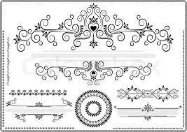 black ornament border on a white background stock vector colourbox