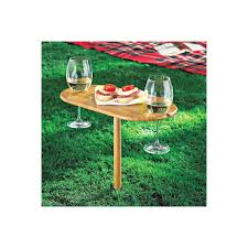 outdoor wine glass holder table toast for two wine table wine enthusiast