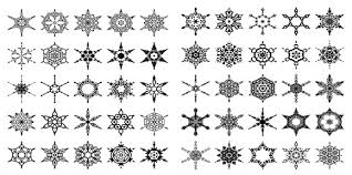 on wood archive snowflake patterns