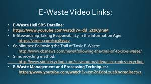 what is e waste e waste is a popular informal name for