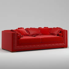 Bright Red Sofa Bright Red Italian Quality Sofa 3d Model Cgtrader