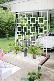 mid century trellis diy a beautiful mess best landscaping ideas on