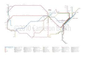 Amtrak Route Maps by Amtrak Routes Poster Cameron Booth
