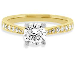 engagement rings yellow gold 1ct 18k yellow gold side engagement ring pr1072