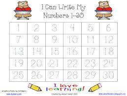 number tracing worksheets 1 30 worksheets