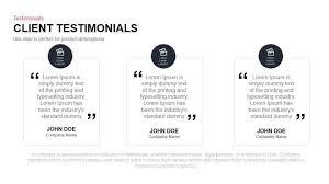 Testimonials Templates client testimonials powerpoint and keynote template slidebazaar