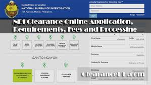 nbi clearance online application requirements fees and