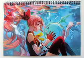 anime manga kawaii girls wall calendar 2017 12 pages 8