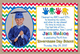 Invitation Graduation Cards Preschool Graduation Invitation Vertabox Com
