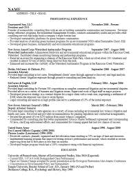 Sample Resume For Employment by Career Services At The University Of Pennsylvania
