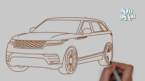 range rover sketch how to draw a range rover velar cars drawing youtube