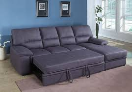 Sectional Sleeper Sofa With Recliners Furniture Leather Sectional Sofa Sleeper With Gray Color