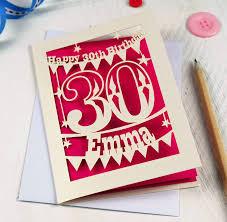 personalised papercut birthday card by pogofandango