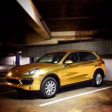 porsche cayenne gold a golden state 2014 beverly porsche cayenne wrapped in gold