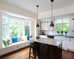 kitchen bay window seating ideas bay window decorating ideas pictures kitchen traditional with shaker