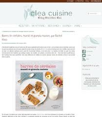 la cuisine de clea clea cuisine barres de céréales archives khoo