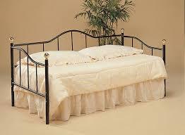 Daybed Skirts Bedroom Elegant Beige Daybed Bedding With Dark Metal Frame And