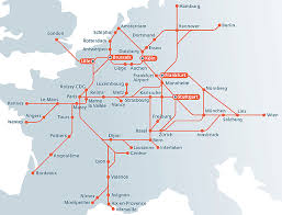 rail europe map rail europe map travel maps and major tourist attractions maps