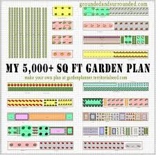 Garden Layout My 5 000 Sq Ft Vegetable Garden Plan Grounded Surrounded