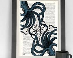 art deco octopus ring holder images Octopus art etsy jpg