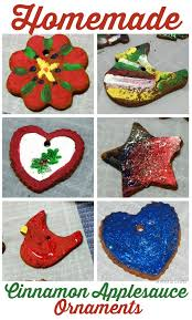 painted cinnamon applesauce ornaments mad in crafts